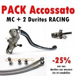 PACK Maitre cylindre de frein PR 19x20 ACCOSSATO + 2 Durites Racing