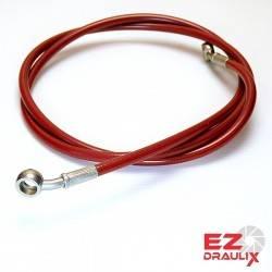 Durite sur mesure Banjos Inox Durite Rouge Néon 71-89 cm