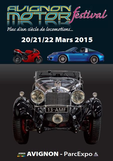 Affiche Salon Avignon Motor Festival 2015